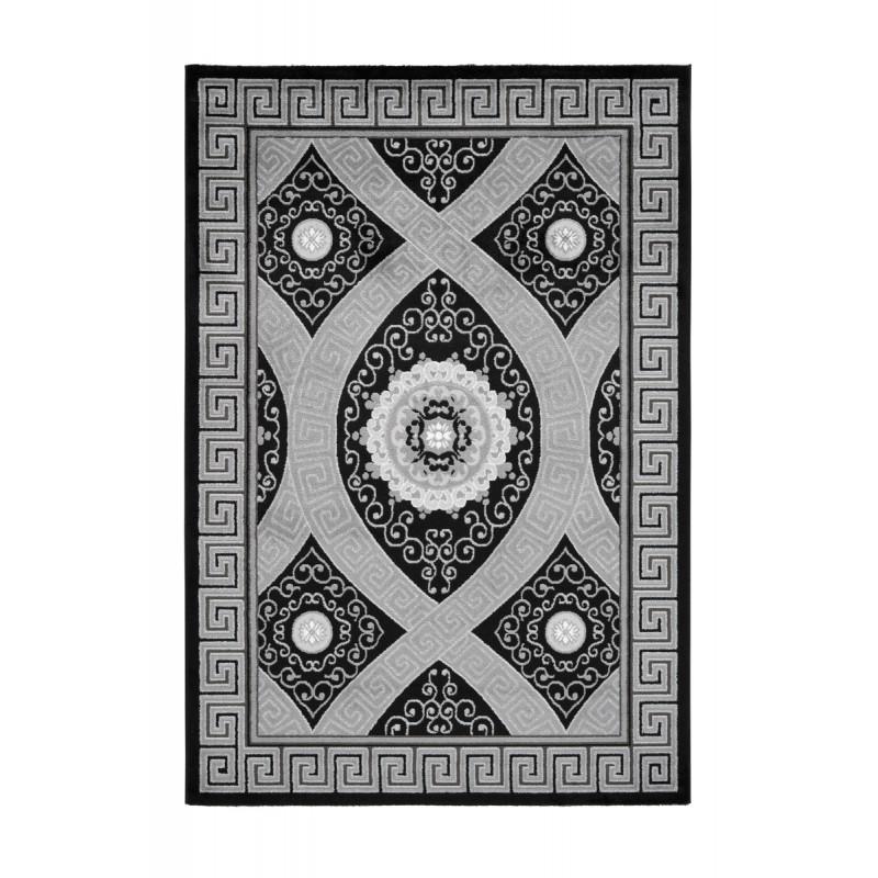 orientteppich rechteckige tetouan gewebte maschine schwarz orientteppich