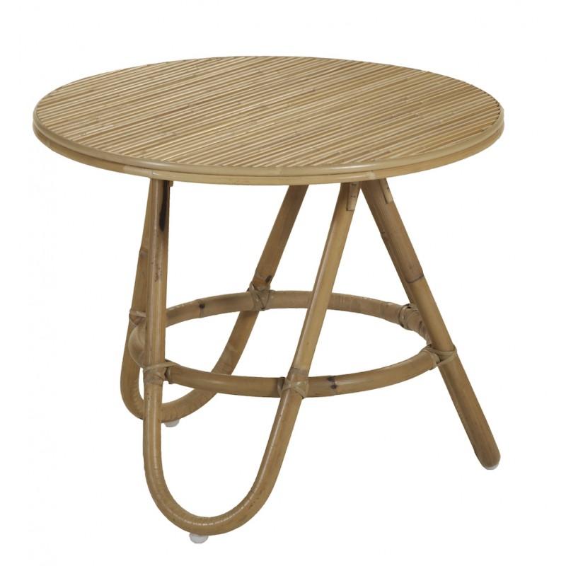 table basse bout de canape diabolo en rotin o 50 cm naturel tables basses