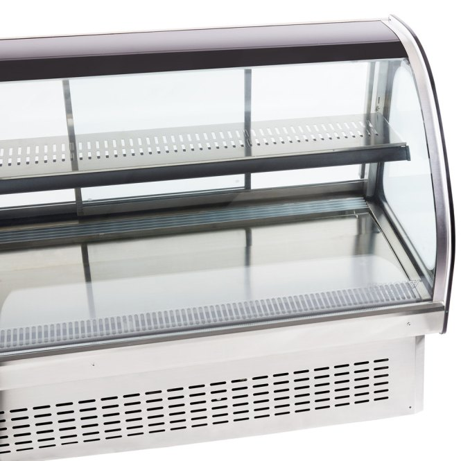 Vollrath 40844 60 Curved Gl Drop In Refrigerated Countertop