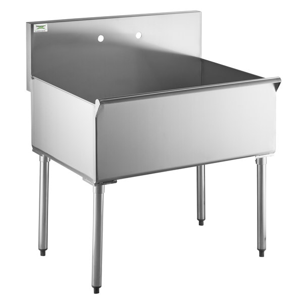 regency 36 16 gauge stainless steel one compartment commercial utility sink 36 x 24 x 14 bowl