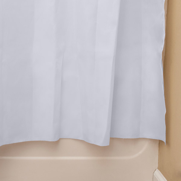oxford 100 polyester 71 x 74 white ringless shower curtain with 12 sheer voile window and removable liner 12 case