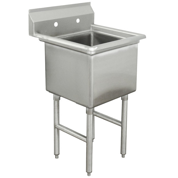 advance tabco fc 1 2424 one compartment stainless steel commercial sink 29