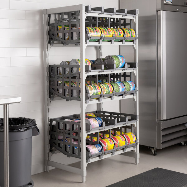 cambro esu243672c96580 camshelving elements full size stationary free standing 10 can rack unit