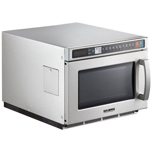 solwave space saver stainless steel heavy duty commercial microwave with usb port 208 240v 1800w