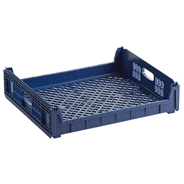 orbis npl640 26 x 22 x 6 customizable blue bakery bread tray bread rack