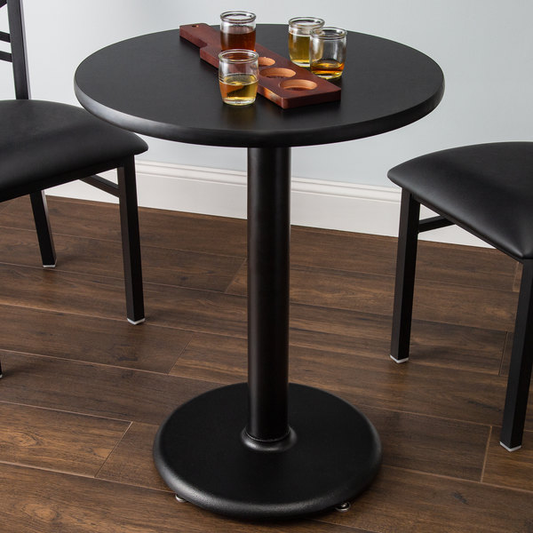 lancaster table seating 24 laminated round table top reversible cherry black