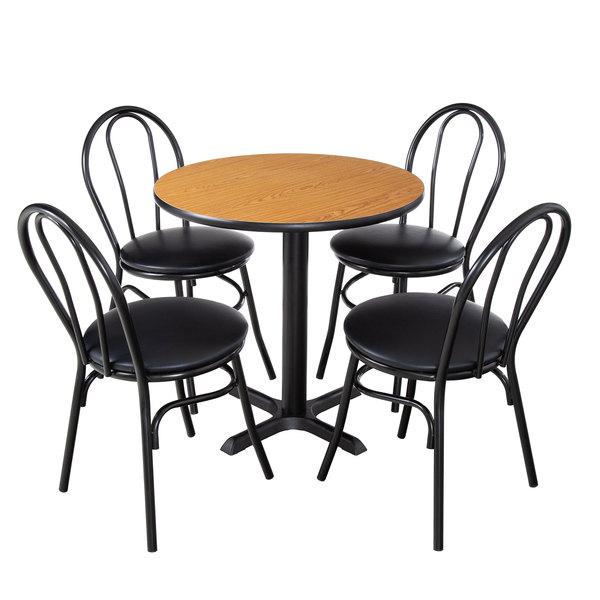 lancaster table seating 30 round reversible walnut oak standard height dining set