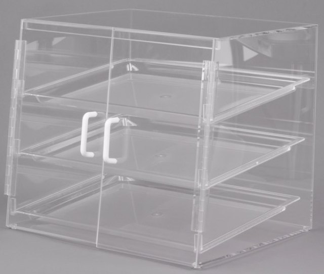 Cal Mil Pss Three Tier Slanted Front Acrylic Display Case  X