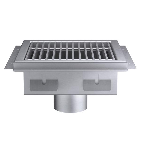 regency 12 x 12 14 gauge stainless steel floor sink with removable grate