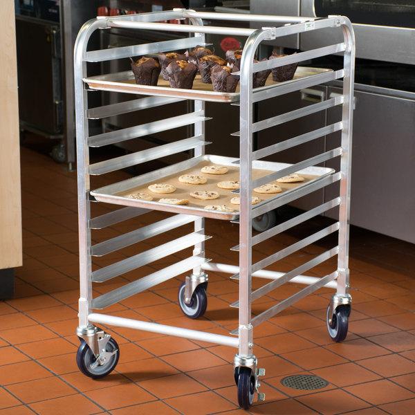 regency 10 pan end load half height bun sheet pan rack unassembled