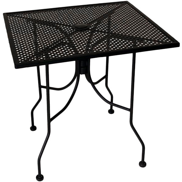 https www webstaurantstore com american tables seating alm3636 36 x 36 square top outdoor table with umbrella hole 132alm3636 html