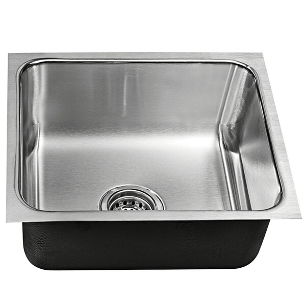 just manufacturing us 1114 a 1 compartment stainless steel undermount sink bowl 12 x 9 x 6