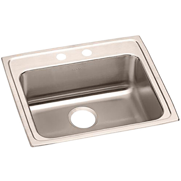 elkay lrad2219552 lusterstone classic single bowl ada drop in sink with two faucet holes 18 x 14 x 5 3 8 bowl