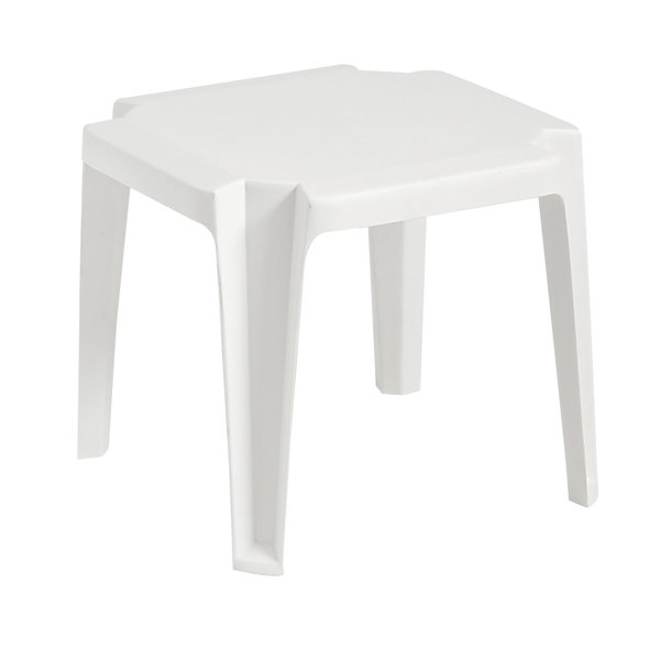 grosfillex 52099004 us529804 miami 17 x 17 white resin low table