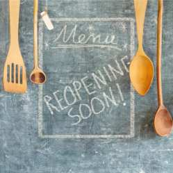 Restaurant Reopening Soon Sign