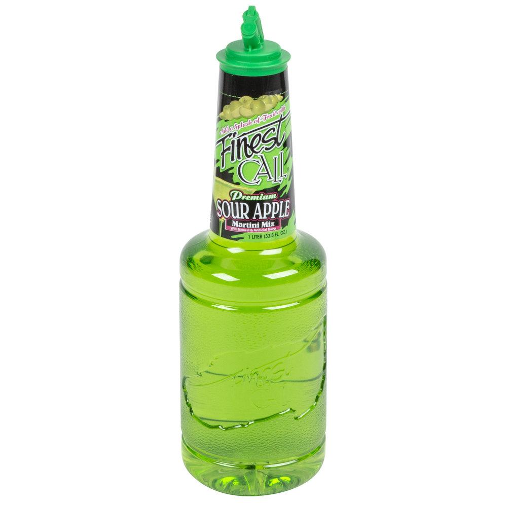 Finest Call Premium Sour Apple Drink Mix 1 Liter