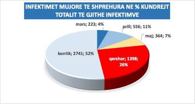Grafiku i Covid/ Situata e rënduar në Shqipëri, më
