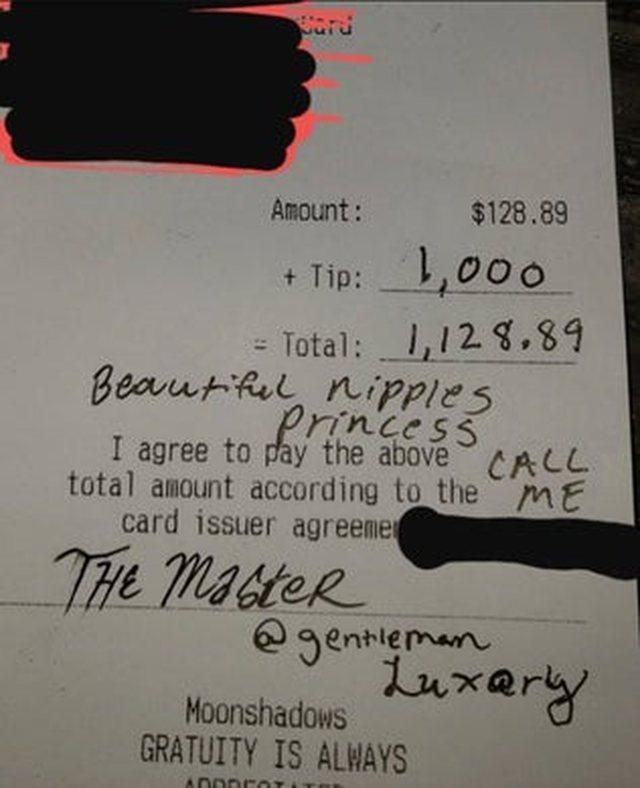 Klienti i la 1 mijë dollarë bakshish, kamarierja zbulon mesazhin