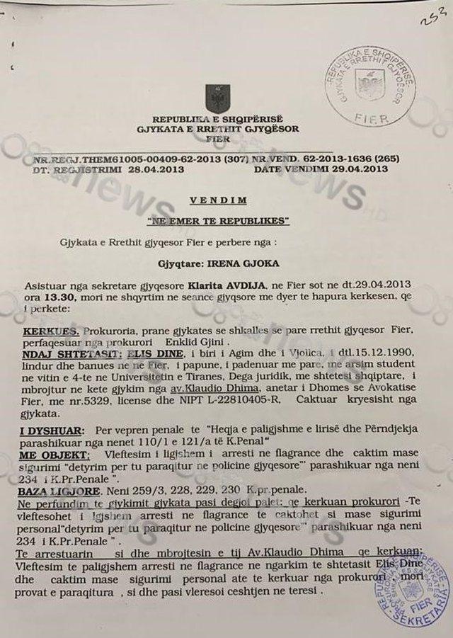 """Investigimi/ Magjistrati """"nën akuzë"""", Alarmi: Elis Dine i"""