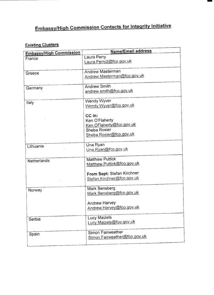 Uno screenshot del documento che descrive l'operazione Moncloa fornito da Anonymous