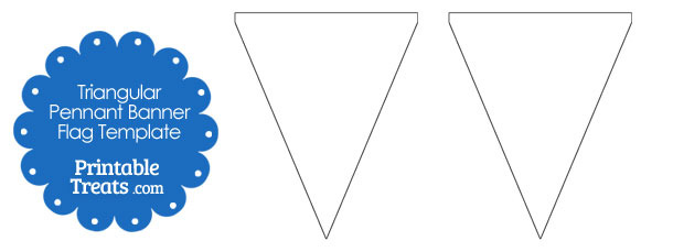 This is one of the ideal techniques to develop a stunning looking business card or invitation on your event. Blank Triangular Pennant Banner Flags Printable Treats Com