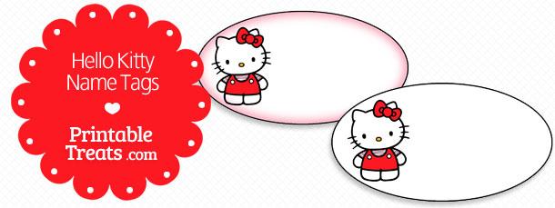 Printable Hello Kitty Name Tags Printable Treatscom