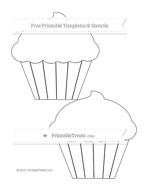 Free Printable Large Cupcake Template Printable