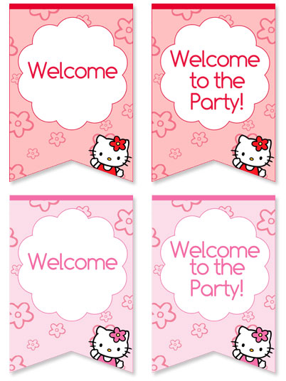 Hello Kitty Welcome Sign For Birthday Parties Printable