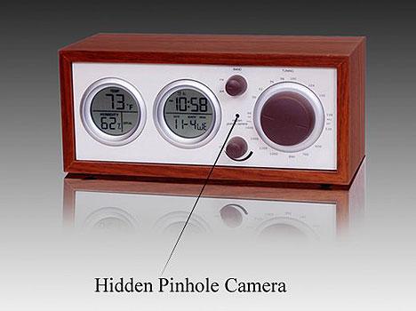 Hidden Camera Spy Clock