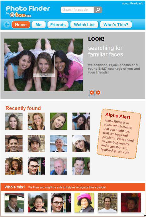 Photo Finder: Killer Face Recognition Facebook App