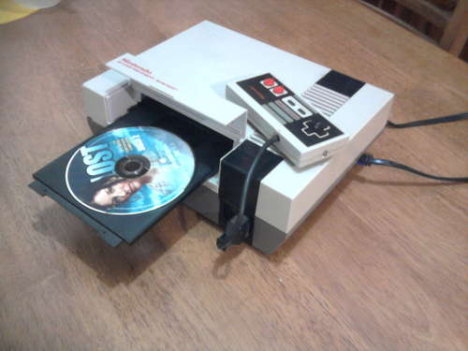 NES Console Turned Into A DVD Player