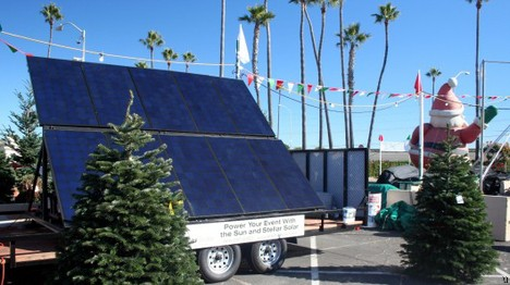 Solar-powered Christmas trees give you that warm and fuzzy feeling