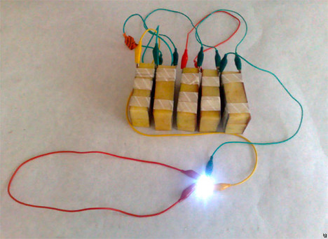 Batteries powered by potatoes