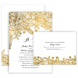 Wedding Invitations With Response Cards