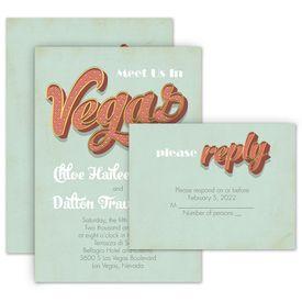 Vegas Wedding Invitation With Free Response Postcard