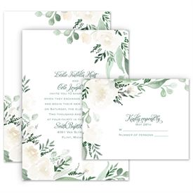 Painted Garden Invitation With Free Response Postcard