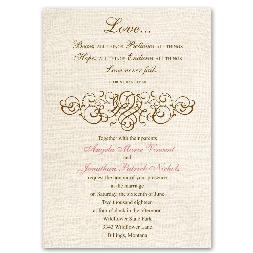 Rustic Wedding Vow Renewal Invitations