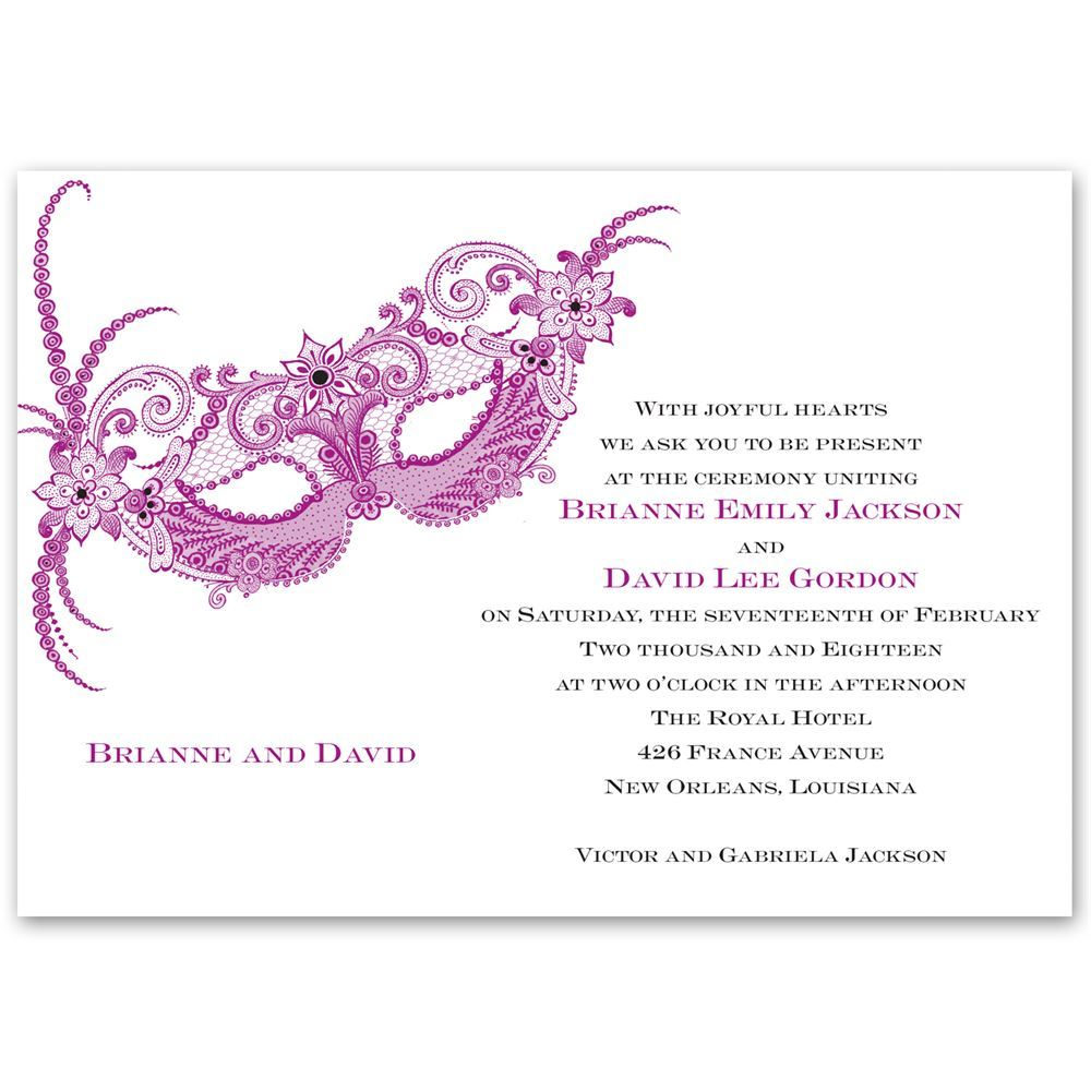 Masquerade Invitation Anns Bridal Bargains