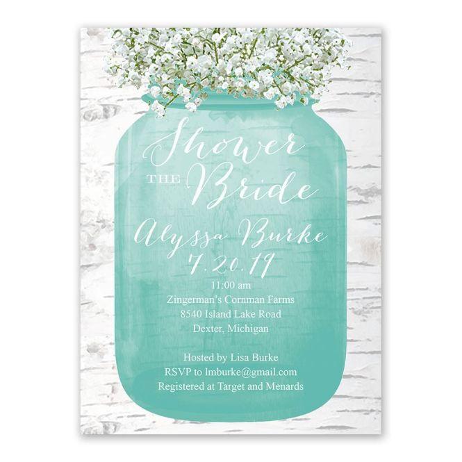 Baby S Breath Bridal Shower Invitation
