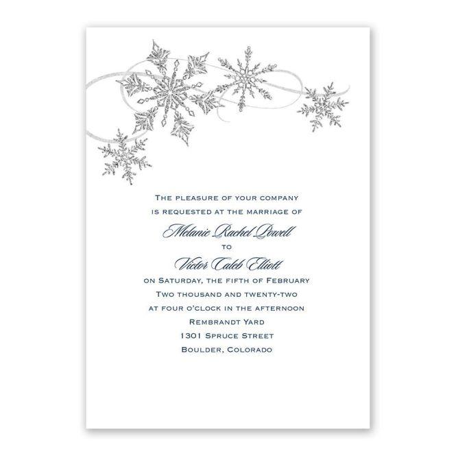 Snowflake Sparkle Winter Wedding Invitation Ann S Bridal Bargains
