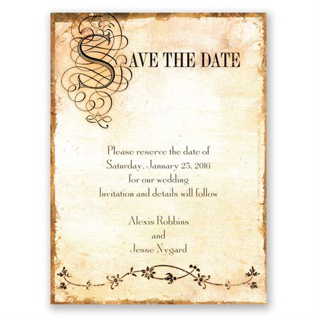Antique Book Save The Date Card Invitations By Dawn