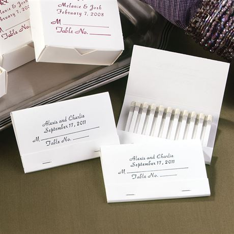 Personalized Place Card Matches Invitations By Dawn