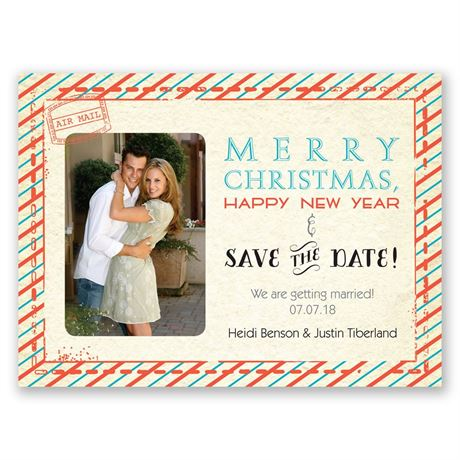 Sassy Stripes Holiday Card Save The Date Invitations By Dawn