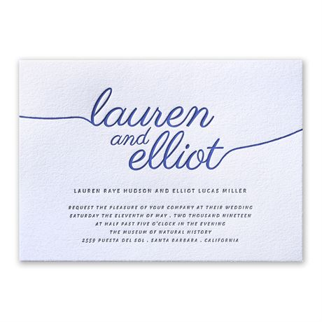 French Beauty Letterpress Invitation Invitations By Dawn