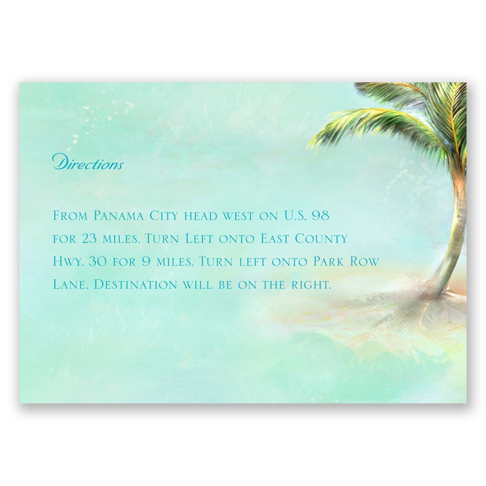 Palm Tree Map Card Invitations By Dawn