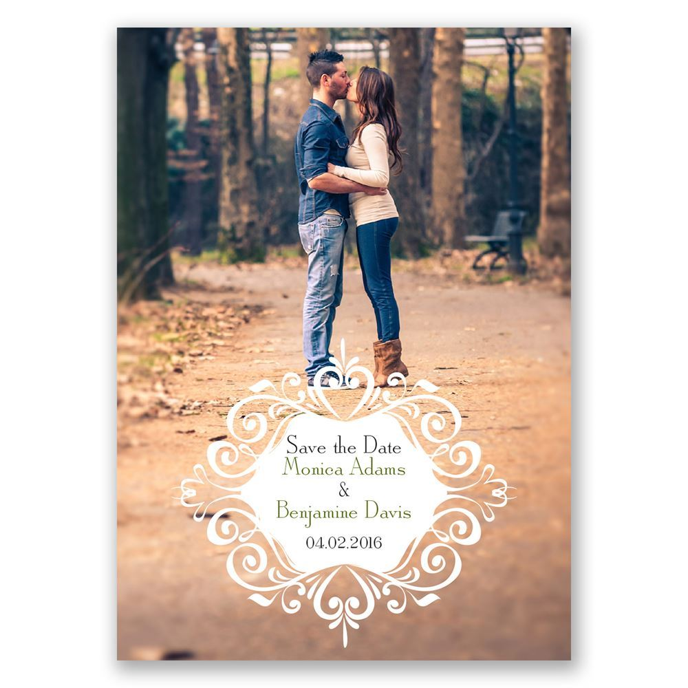 Filigree Crest Save The Date Magnet Invitations By Dawn