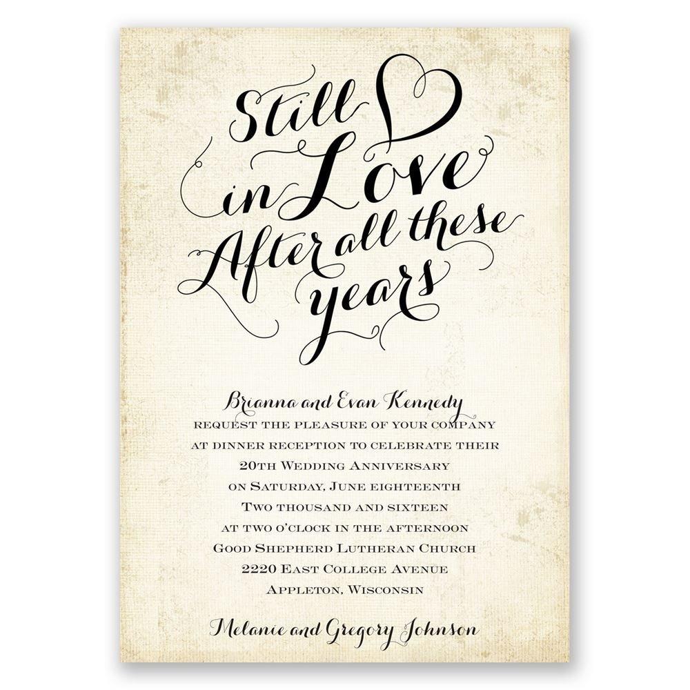Printable Anniversary Invitations