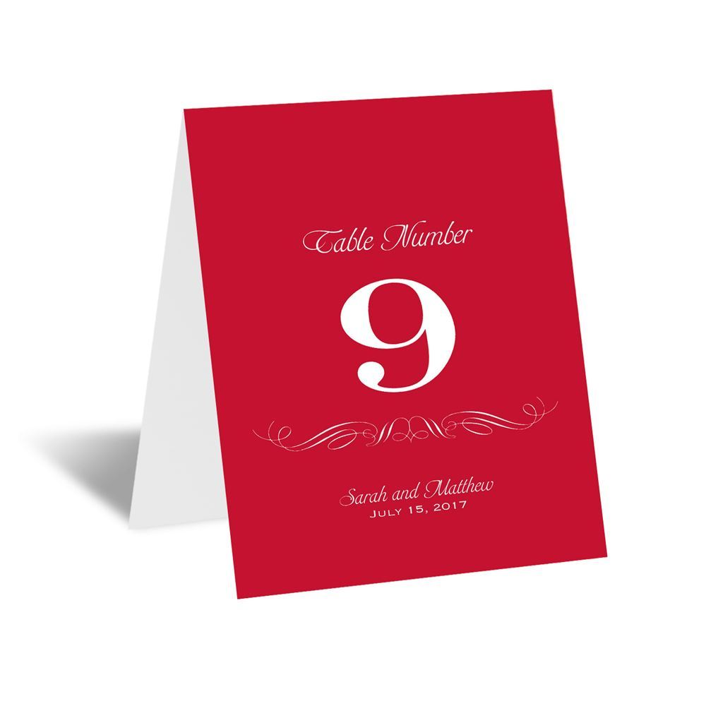 Elegant Filigree Table Number Card Invitations By Dawn