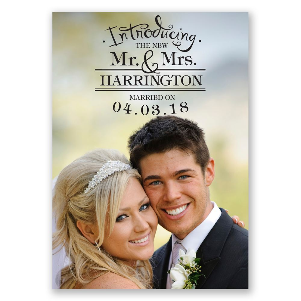 Introducing Wedding Announcement Invitations By Dawn