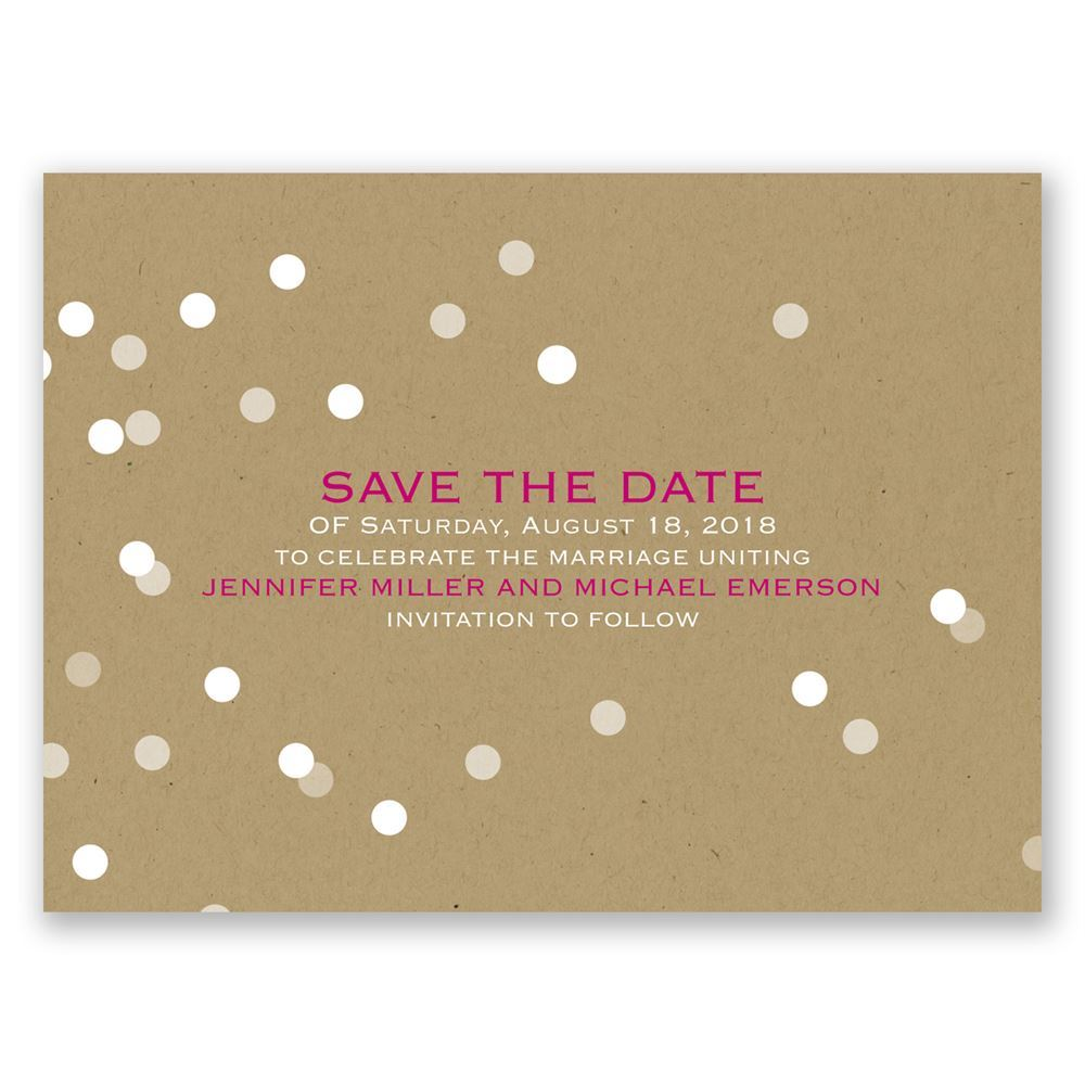 Bright Lights Save The Date Card Invitations By Dawn